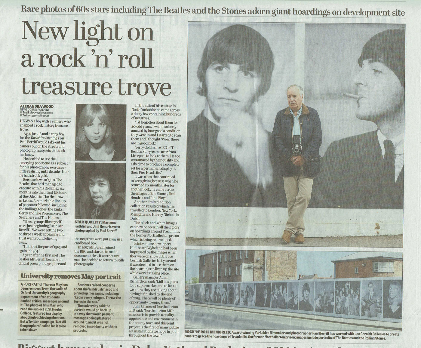 Prison hoardings to feature 60s pop icons in new exhibition